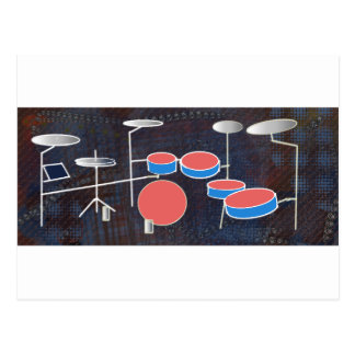Percussion Color Postcard