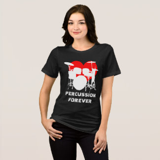 Percussion forever funny customizable black T-Shirt