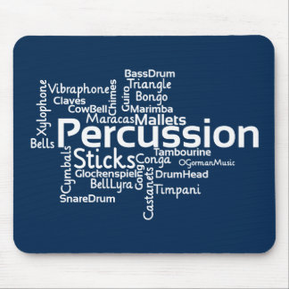 Percussion Word Cloud Mouse Pad