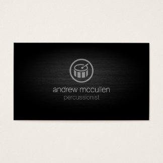 Percussionist Drum Icon Brushed Metal Musician