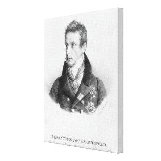 Percy, 6th Viscount Strangford Canvas Print
