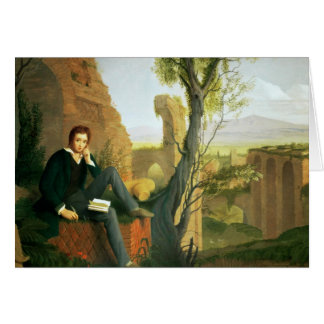 Percy Bysshe Shelley  1845 Card