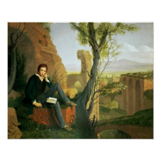 Percy Bysshe Shelley  1845 Poster