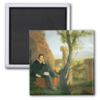 Percy Bysshe Shelley  1845 Square Magnet