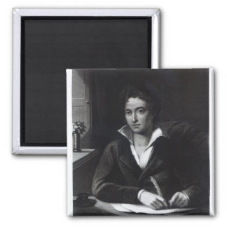 Percy Bysshe Shelley, engraved by William Holl Square Magnet