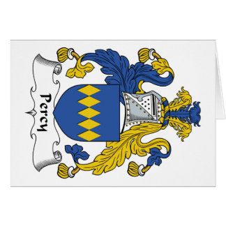 Percy Family Crest Card