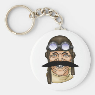Percy Basic Round Button Key Ring