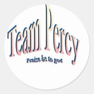 percy round sticker