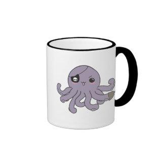 Percy the Octopirate Ringer Coffee Mug
