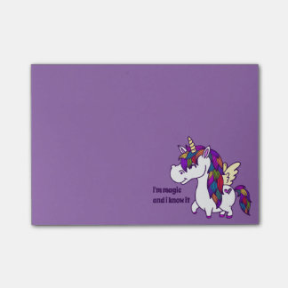Percy the Polished Unicorn Post-it® Notes
