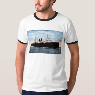 Pere Marquette Car Ferry 21 Crossing Lake Michigan T-Shirt