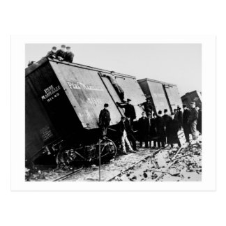 Pere Marquette Railway Freight Wreck Postcard