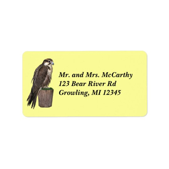 Peregrine Falcon Address Avery Label Address Label