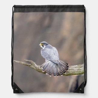 Peregrine Falcon at the Palisades Interstate Park Drawstring Bag