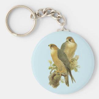 Peregrine Falcon Basic Round Button Key Ring