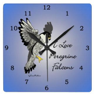 Peregrine Falcon Clock