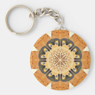 Peregrine Falcon Kaleidoscope Basic Round Button Key Ring