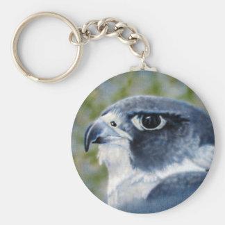 Peregrine Falcon Keychain Basic Round Button Keychain