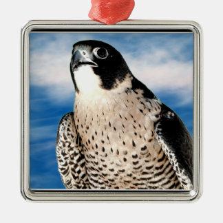 Peregrine Falcon Metal Ornament