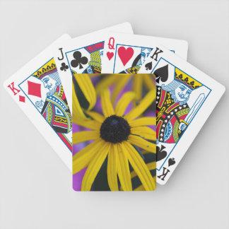 Perennial coneflower (Rudbeckia fulgida) Bicycle Playing Cards