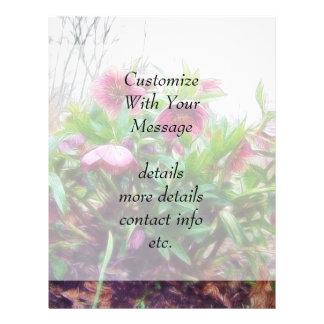 Perennial Hellebore Plants In The Garden 21.5 Cm X 28 Cm Flyer