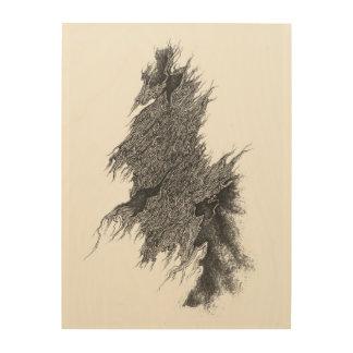 "Perennial path 18""x24"" Wood Wall Art Wood Canvases"