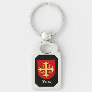 Perez Historical Shield Key Ring