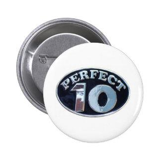 PERFECT 10 6 CM ROUND BADGE