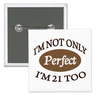 Perfect 21 Year Old 15 Cm Square Badge