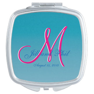 Perfect 3d Monogram Blue Water Compact Mirrors