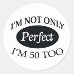 Perfect 50 round sticker