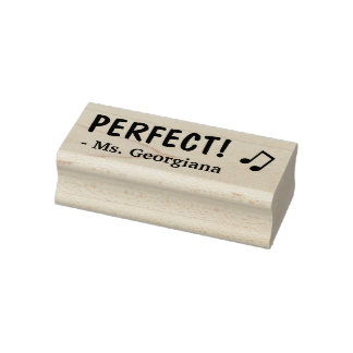 """PERFECT!"" Acknowledgement Rubber Stamp"