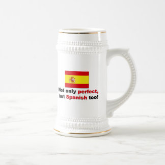 Perfect and Spanish Beer Stein