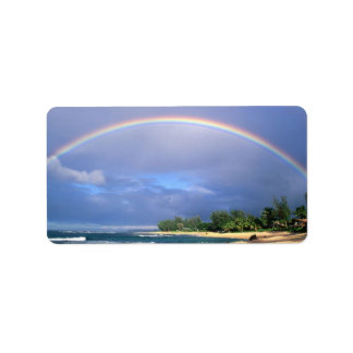 Perfect Beach Rainbow mailing label Address Label