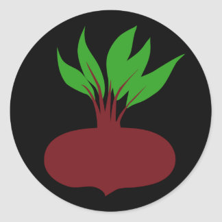 Perfect Beet Classic Round Sticker