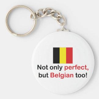 Perfect Belgian Basic Round Button Key Ring