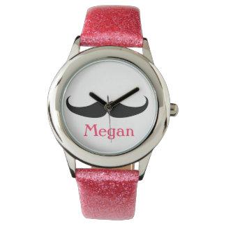 Perfect Birthday Mustache Watch Gift Teen Girl