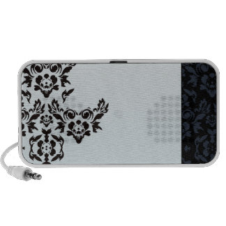 Perfect black damask valentine gift notebook speakers