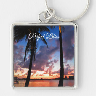 Perfect Bliss - Sunset in West Palm Beach Key Ring