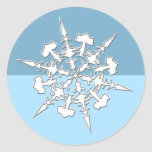 Perfect Christmas Snowflake Holiday Cards Seals Round Sticker