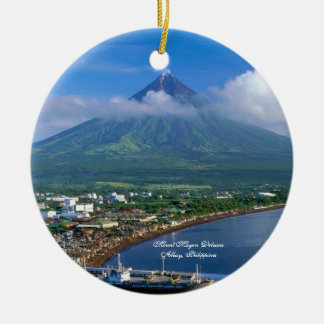 Perfect Cone of Mount Mayon Volcano, Philippines Ceramic Ornament