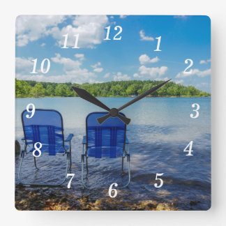 Perfect Day At The Lake Square Wall Clock