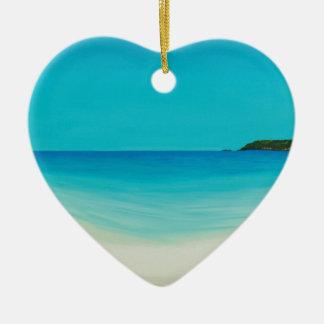 Perfect day (longrock beach Marizion) Ceramic Ornament