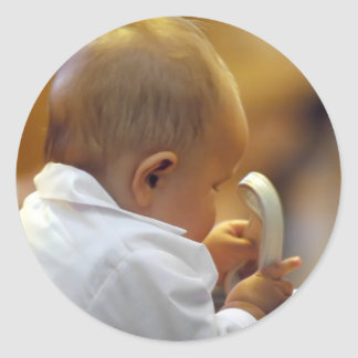 Perfect for special occasions such Baptisms Round Sticker