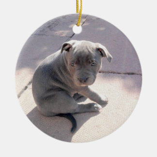 Perfect gift for the staffordshire bull terrier lo ceramic ornament