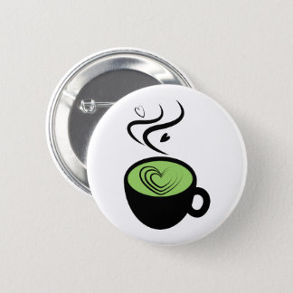 Perfect Matcha Tea Valentine Love Button
