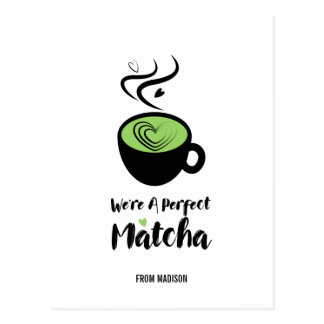 Perfect Matcha Valentine Love Postcard