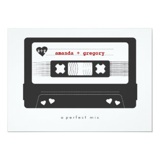 Perfect Mix - Mix Tape Save the Date Card 13 Cm X 18 Cm Invitation Card