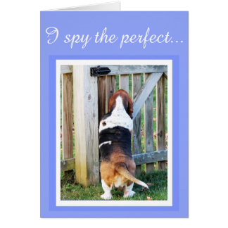 """""""Perfect Mom"""" Mother's Day Card w/Basset & Hearts"""