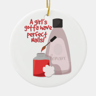 Perfect Nails! Ceramic Ornament